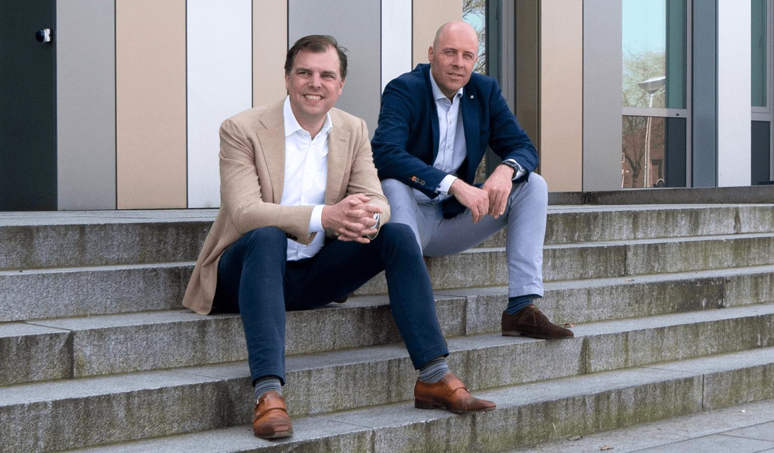 Sander Terpstra (l) en Rutger Wuite van 10HOOG Bedrijfsmakelaars